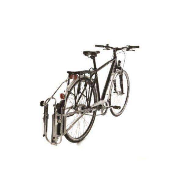Followme tandem ingeklapt aan fiets De Kleine Spaak