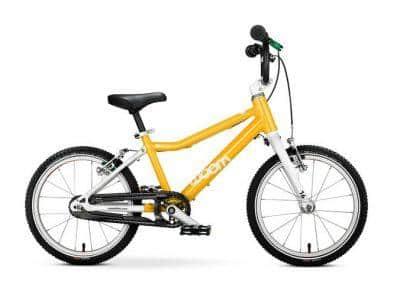 woom 3 kinderfiets lichtgewicht 16 inch handremmen eerste fiets geel