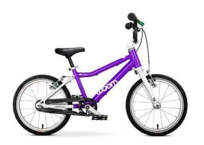 woom 3 kinderfiets lichtgewicht 16 inch handremmen eerste fiets paars